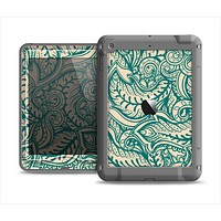 The Delicate Green & Tan Floral Lace Apple iPad Mini LifeProof Nuud Case Skin Set
