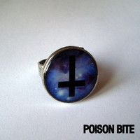 Cross in space galaxy ring