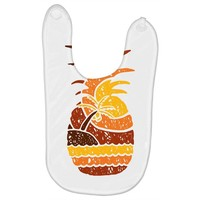 pineapple and beach Baby Bibs