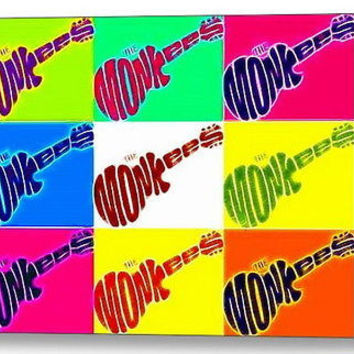 Framed The Monkees Guitar Pop Art 9X11 inch Limited Edition Art Print w/COA