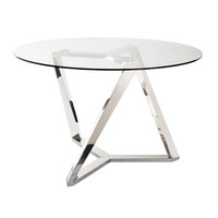 Clifton Dining Table Glass - Moe's Home Collection