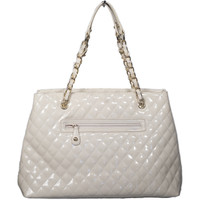 Embossed Bag W/ Gold Chain