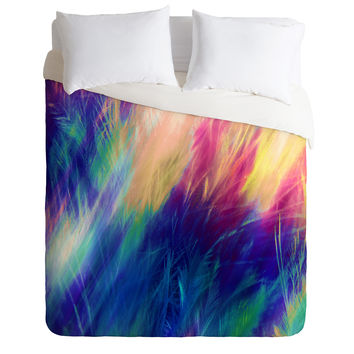 Caleb Troy Paint Feathers In The Sky Duvet Cover
