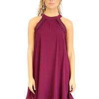 SIZE LARGE Matira Beach Plum Shift Dress