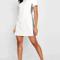 Pearl Detail Stripe Shirt Dress | Boohoo