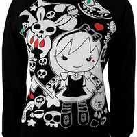 Cosmic Evil Alice Ladies Black Sweatshirt - Buy Online at Grindstore.com