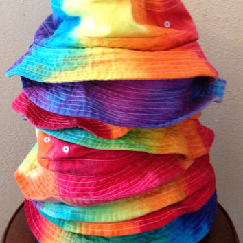 Rainbow Tie-Dye Bucket Hat