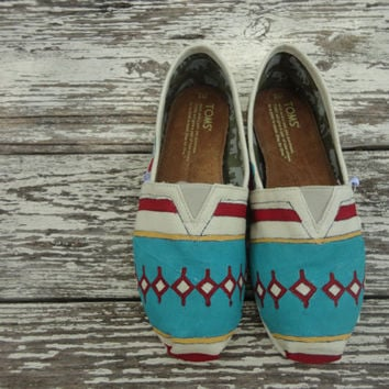 Custom hand painted TOMS South by Southwest by solereflections