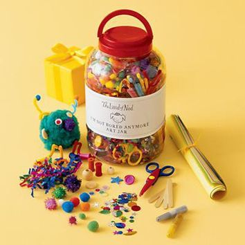 The Land of Nod: Kids' Arts & Crafts: Kids Jumbo Arts & Crafts Supplies Jar in All Toys