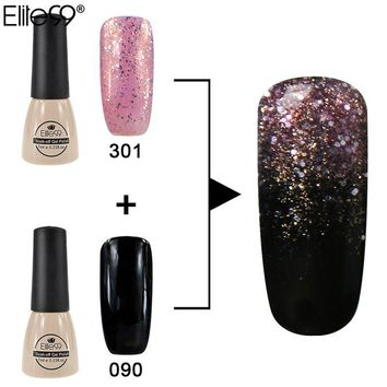 Elite99 New Arrival UV Nail Gel Factory Direct Easy Chameleon Gradient Soak Off Gel Polish Kits Set Need Nail Brush