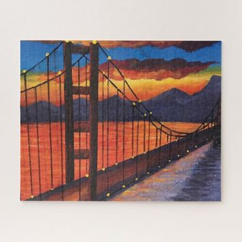 Golden Gate Bridge ,Painting jigsaw puzzle