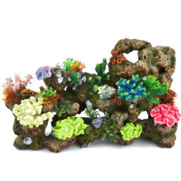 Top Fin Stone & Coral Bubbler Aquarium Ornament