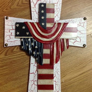 NEW Patriotic Themed Cross