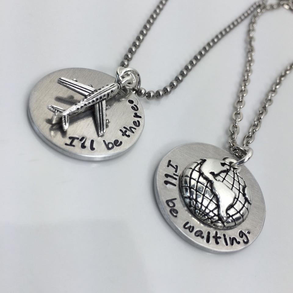 Long Distance Relationship LDR Necklace from Monica Donohoe
