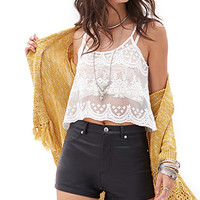 FOREVER 21 Faux Leather Shorts Black