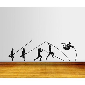 Vinyl Wall Decal Sticker Pole Vault Launch #OS_AA737
