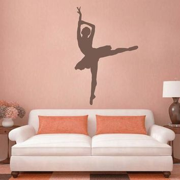 ik2273 Wall Decal Sticker ballerina dance ballet pas pirouette girl bedroom