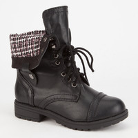 Soda Oralee Ii Girls Boots Black/Pink  In Sizes
