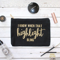 I Know When That Highlight Bling // Makeup Bag