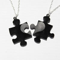 Missing Puzzle Piece necklace set