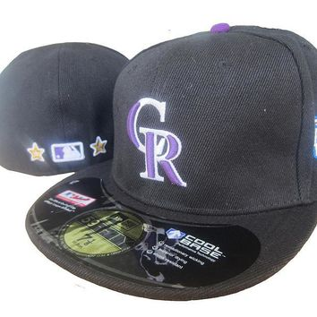hcxx Colorado Rockies Cool Base 59FIFTY MLB Cap All-Star Patch Black