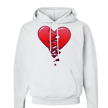 Crumbling Broken Heart Hoodie Sweatshirt by