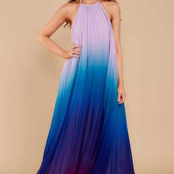 Mesmerized By You Blue Multi Maxi Dress