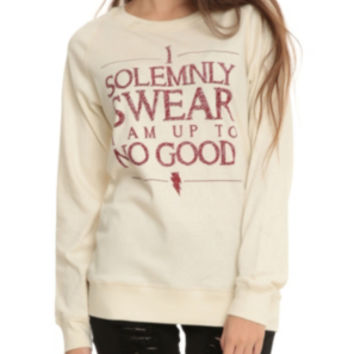 Harry Potter Solemnly Swear Reversible Girls Pullover Top