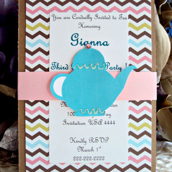 Tea Party Invitation, Garden Party Invitation ,Tea Party Birthday