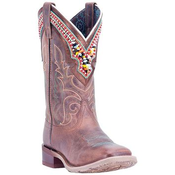 Laredo Western Boots Womens Stockman Beko Distressed Brown 5653
