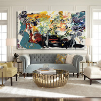 home decor most famous modern abstract art wall pictures printed canvas oil painting for living room No Framed 68