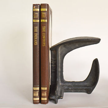 Antique Cast Iron Shoe Cobbler Stand Form, Vintage ACME Iron Shoe Last, Shoemaker's Tool, Industrial Doorstop or Bookend