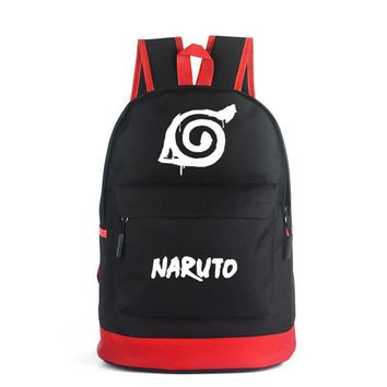 New Arrival Anime Backpack Naruto/ Hatsune Miku/ EVA/ Fate Stay Night School Bags For Teenager Black And Red Color Backpacks