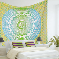 Mandala Tapestries, Tapestry Wall Hanging, Wall Tapestries, Indian Hippie Tapestries Wall Hanging, Bohemian Tapestry,Ombre Tapestry Wall Art