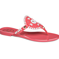 Jack Rogers Jelly Sandal- Bright Pink and White- FINAL SALE