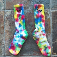 Rainbow Confetti Cotton Candy Tie Dye Nike Socks , stocking stuffer, sports, athletic wear, back to school, basketball SALE