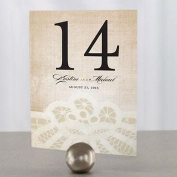 Vintage Lace Table Number Numbers 85-96 Copper Orange (Pack of 12)