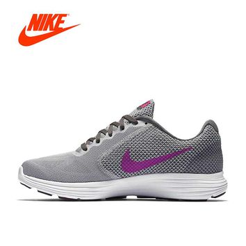 Original New Arrival Official Nike REVOLUTION 3 Breathable Women's Running Shoes Sports Sneakers
