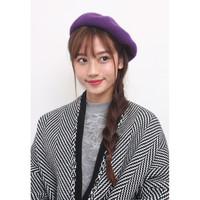 Purple Wool Beret