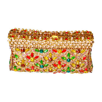 Crystal flowers clutch