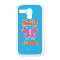 Sassy - Hello Gorgeous 10433 White Hard Plastic Case for Moto G by Sassy Slang