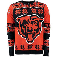 Chicago Bears Forever Collectibles KLEW Big Logo Ugly Sweater Sizes S-XXL w/ Priority Shipping