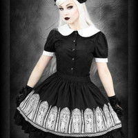 Gothic Windows Angel Skirt Midi Victorian Steampunk Gothic Lolita Kera Goth