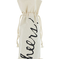 'Cheers!' Wine Bag