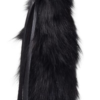 Black fox tail keychain fashion accessory