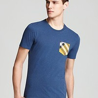 Burberry Brit Ollie Check Pocket Tee | Bloomingdale's