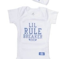 Jordan Baby Clothes Lil Rule Breaker Set for Baby Boys and Girls (One Size 0-6 Months) White, 0-6 Months