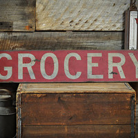 Red Grocery Sign