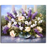 "DIY Painting by Numbers Canvas Painting Set - ""Flower Bowl"""