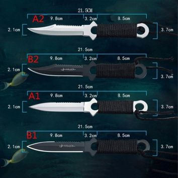 Tactical Knife Leggings Paratroopers Knife Stainless Steel Diving Straight knife Survival Camping Pocket Knife